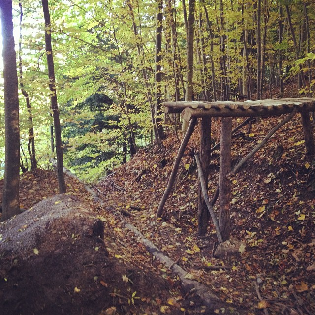 New feature on the Uetliberg trail! Never did such a drop before