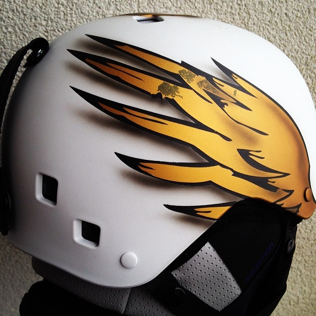 This is my new special designed helmet for tomorrows Olympic Parallel Slalom.