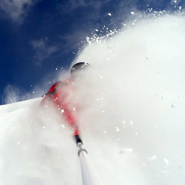 Eating some quality pow!