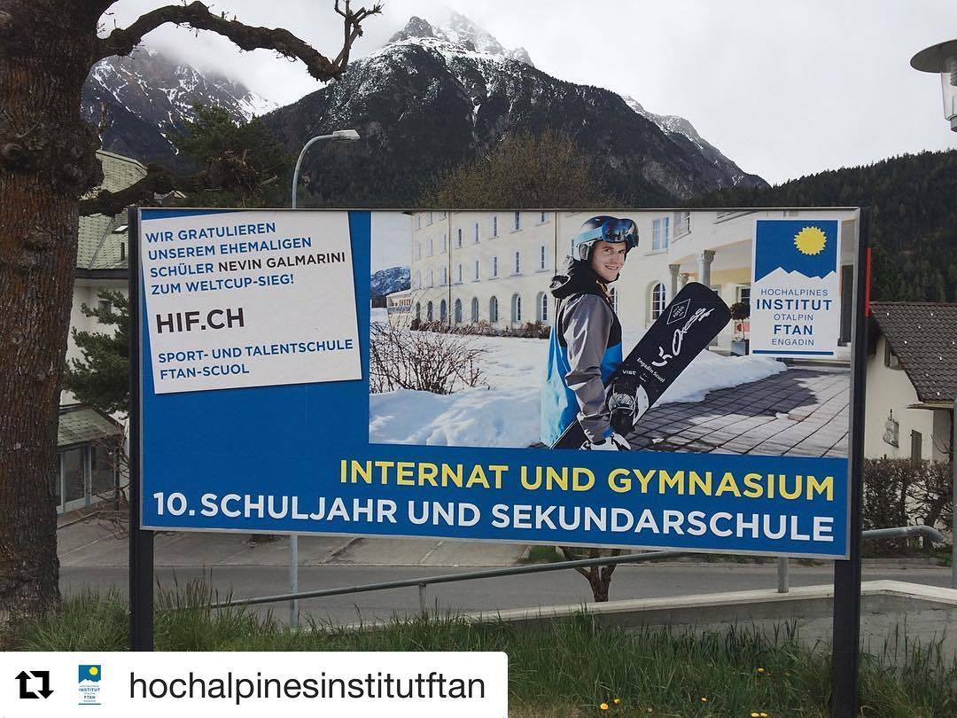 Thank you @hochalpinesinstitutftan for the cool ad. I spent six great years in this sport school which was the foundation of my professional snowboard career. Great so see them work with so many new talents and helping them to succeed in sport and school equally 🏼 @hochalpinesinstitutftan with @repostapp ・・・ Nevin Galmarini for HIF.ch new ad Trainstation Scuol Ftan Tarasp