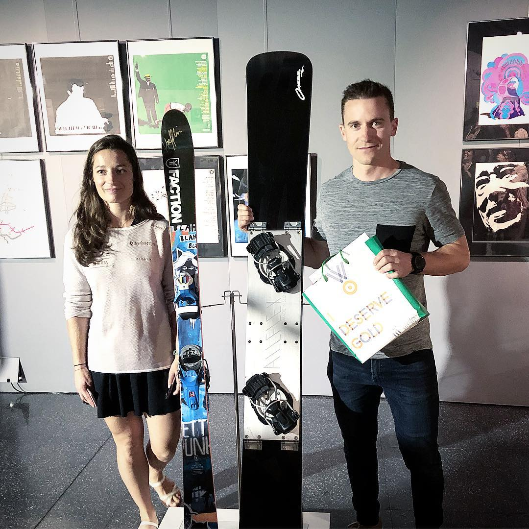 Today I donated my Olympic gold medal snowboard to the @olympicmuseum Lausanne. It's an honor to contribute a little bit to the huge heritage of the Olympic Games history.