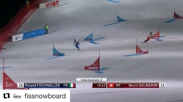 Yesterdays final run against @rolandfischnaller  I tried to recover from that mistake in the 6th gate, but came only close. Still overall happy with my 2nd place. . . . @fissnowboard ・・・ Watch @rolandfischnaller take the victory on home soil at @cortinadolomiti, beating @nevingalmarini in the big final to make it five podiums in five attempts at the Cortina venue.