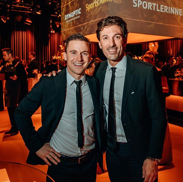 Another one from last Sunday #sportsawards . . . With #spartacus himself @fabian_cancellara . . . #olympicchampions 📷 by Rémy Steiner for @schweizer_illustrierte