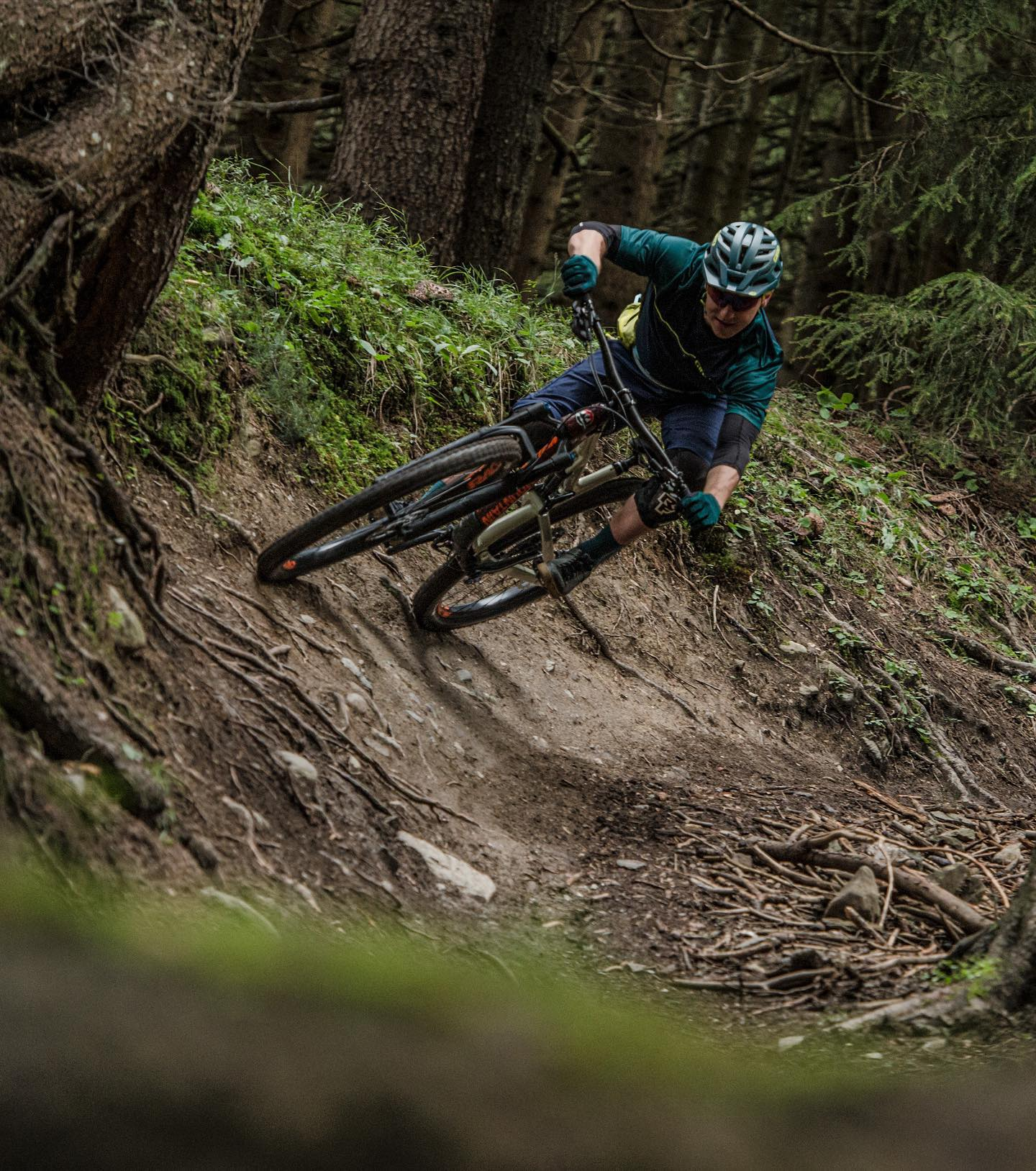 The @girocycling Radix Mips helmet in action... captured by @egelmairphotography in difficult light on a difficult trail in difficult conditions. . . .